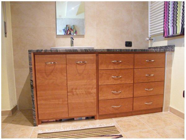 Oranilegno fullbox mobiletto da bagno in ciliegio