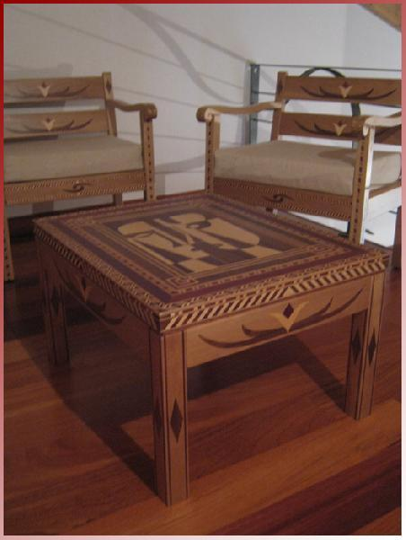 Pablo - coffee table inlaid walnut
